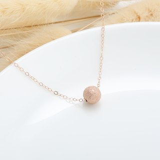 14KGF rose gold Gold-filled ball necklace Valentine's Birthday Day gift