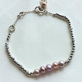 100% Home Design 925 Sterling Silver 4A Purple Freshwater Pearl Bracelet