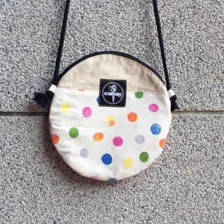 toutoubags/ big pie bags-watercolor dot(white)