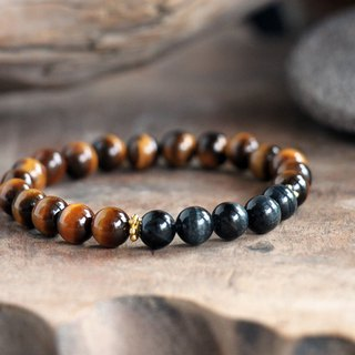 Tiger Eye and Eagle Eye Courage and Confidence Chain