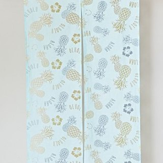 Pre-ordered hibiscus flower and pineapple curtain two-color 4ISP7269