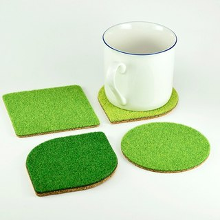Shibaful ECO Cork Coaster - Set エココルク コースター