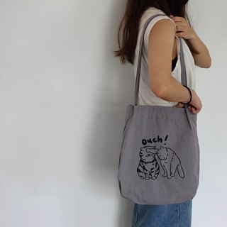 OUCH cat cotton gray back pocket