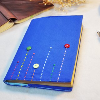 Hand-made book clothing notebook 【Rain】 Bao blue canvas section (Big Ben = A5)