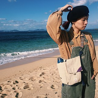 "EARTH.er │Hand Weaving Hemp ""Claymore"" Shoulder Bag│< Sustainable Natural Hemp Product >"