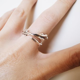 Hand-made silver jewelry - good water series / ring