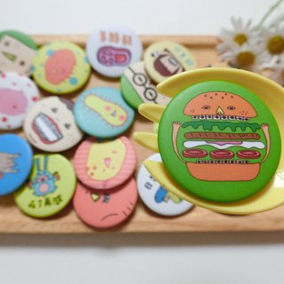 Braces burger (reprint) / tin badge badge