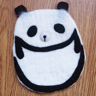 Potholder, Trivet, Pan Coaster, Pot holder, Felt Trivet Animal Panda