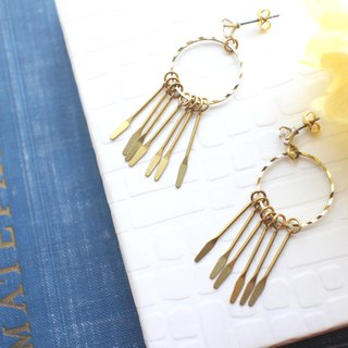 Traveler-Brass earrings
