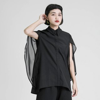 Phantom Phantom stitching shirt_8SF052_Black