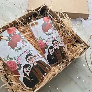 Christmas gift pre-order - statement to 11/30 [Q version portrait phone case] couple / friend / birthday