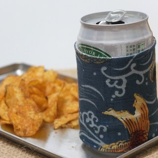 Recycled coffee cozy Japanese Koi carp cup sleeve