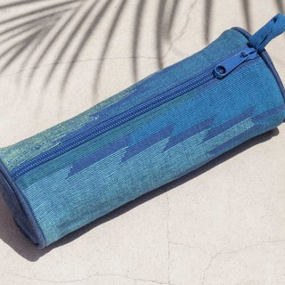 Daka woven cosmetic bag national wind bag pen tableware bag handmade canvas bag pen box - blue sky