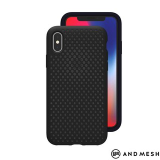 AndMesh-iPhone XR dot soft anti-collision protective cover - black (4571384958554