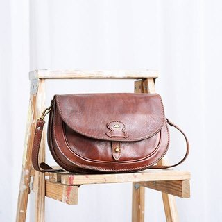 THE BRIDGE antique oblique shoulder bag