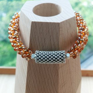 Russet Orange Bubble Belle Bracelet