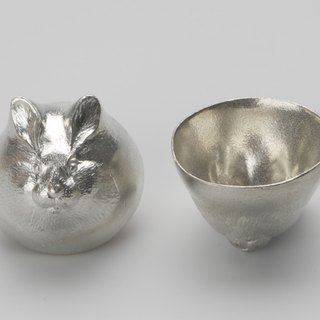 Pure tin zodiac modeling cup (rabbit)