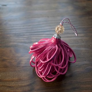 Leather tassel signora Fuchsia pink