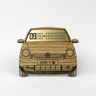 [Volkswagen LUPO] exclusive white oak wood temporary parking card number