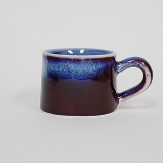 Flambe Glaze Mug-Red Violet