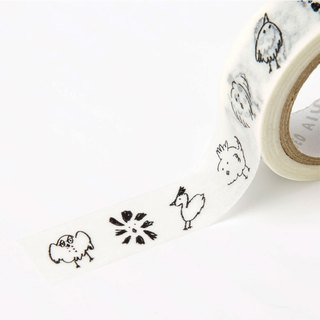 Japanese illustration paper tape - Crazy chick