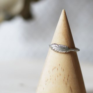 Petite Fille Female Unfinished Silver Mini Collection Small Feather Silver Silver Ring