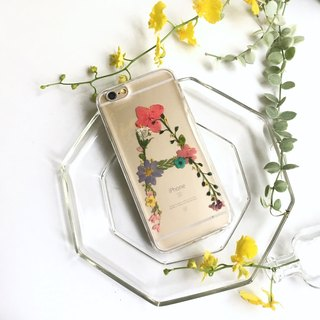 A for Apple :: Dry Flower English Custom Phone Case