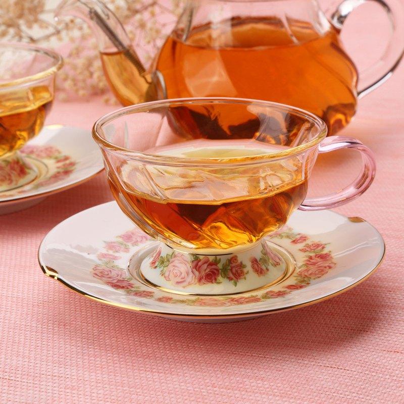 晶豔玫瑰花茶杯碟(160ml)