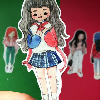 Girls stickers T group (five into a group) - 2017 Christmas limited