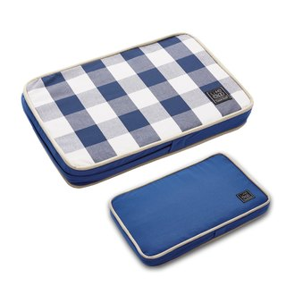 Lifeapp Pet Relief Sleeping Pad Large Plaid---XS (Blue and White) W45 x D30 x H5 cm