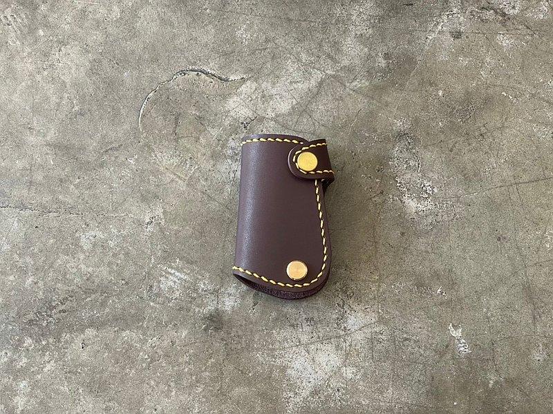 【Mini5】手工縫線汽車鑰匙包/偉士牌鑰匙(焦茶)