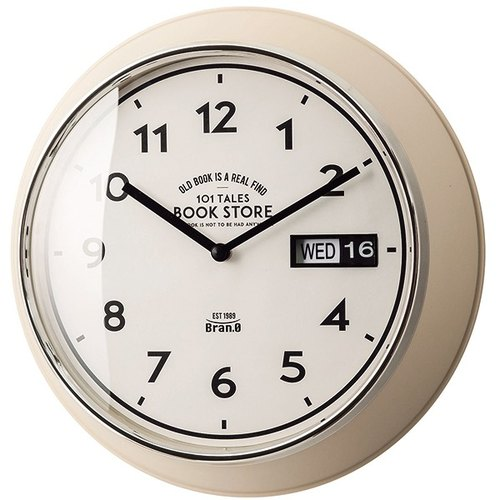 Veryan-day / date modeling wall clock (white)