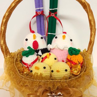 New listing basket-style chicken (gold, pink, purple, pink in four colors)