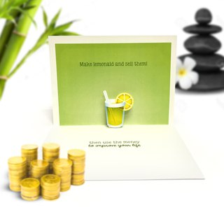 Life Gives You Lemons | Lemonade Card | Cheer Up Card | Pop Up Card