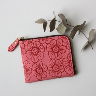 Pigskin's Slim Mini Purse Flower Cherry Pink
