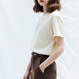 Hao Beige Cotton T-Shirt White Cotton Tee