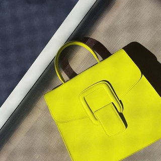 PINCH NO.1 (Neon 22 inches) Classic and Iconic Leather Handbag/Crossbody