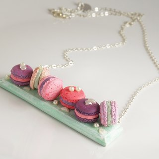 |Petits macarons| Polymer Clay Silver-Plated Brass Necklace