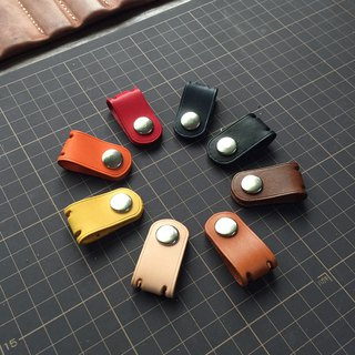 Simple handmade leather hub set -2 into (can be customized)