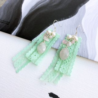 925 silver-romantic lace & rose quartz earrings