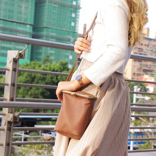 澎Baikou gold bag|cowhide|two colors optional