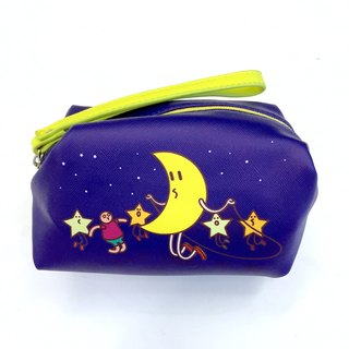 【UPUP placards villain】 JUMP WITH MOON storage bag / cosmetic bag