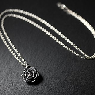 Sterling Silver Rose Eye Necklace Rose Eye