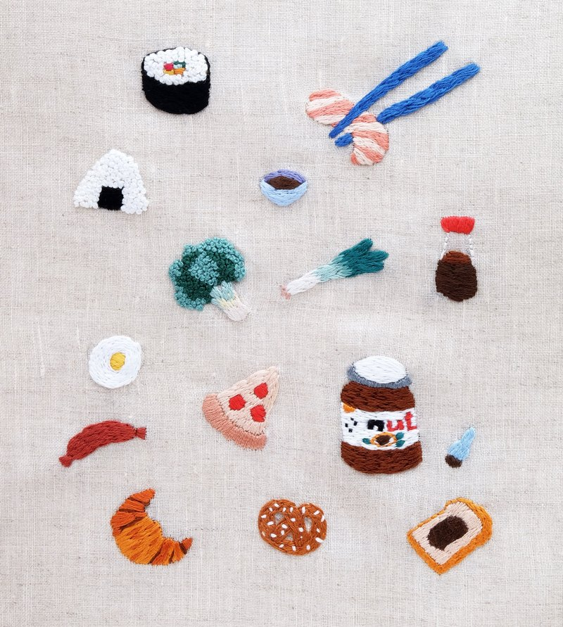 EMBROIDERY STICKER - FOOD LOVER