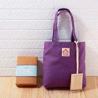 Buy one get one free / hand made canvas bag - psychedelic purple / exchange gift Christmas gift