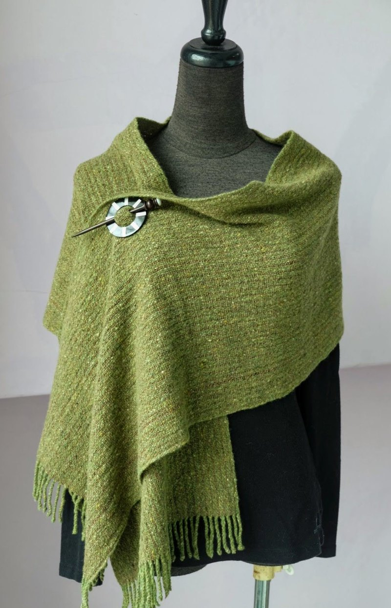 Handwoven by Carina | 90% Wool 10% Cashmere Blended Scarf