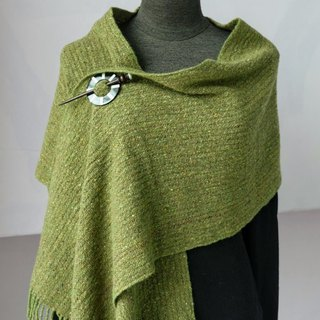 Handwoven Wool Cashmere Blended Wrap