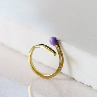 Purple Match Ring / Linen Jewelry / Match Ring / Style Ring / Brass Ring / Hipster Jewelry / Modern Rings.