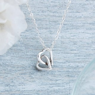 Double little love (silver necklace)
