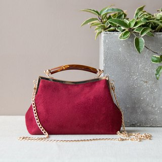 Suede Fabric handmade handbags